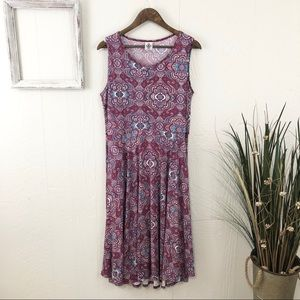 Agnes & Dora Paisley Print Midi Dress